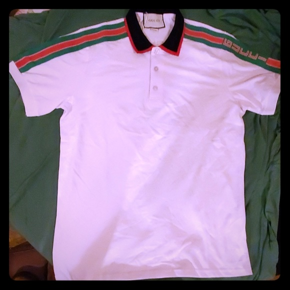 Men Gucci polo Gucci on sleeve